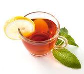 Nane ve limon ile çay — Stok fotoğraf