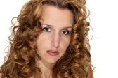 žena s červenými vlasy — Stock fotografie