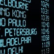 Departure Timetable — Stock Photo