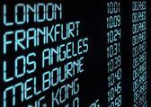 Departure Timetable — Foto de Stock