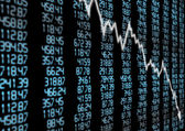 Stock Market Down — Stock Photo
