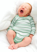 Yawning New Born Baby — Stock Photo