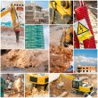 Construction Collage — Stock Photo