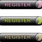 Button register — Stock Vector