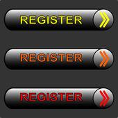 Knappen register — Stockvektor