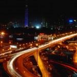 Night scenes of Cairo, Egypt — Stock Photo