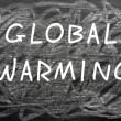 """Global Warming"" written on a chalkboard — Stock Photo"