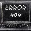 Error 404 on a blackboard background — Foto Stock