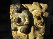 猿の芸術彫刻古代の岩 — ストック写真