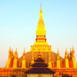 Golden wat in Vientiane,Laos — Stock Photo
