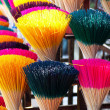 Colorful incense or joss sticks for buddhist prayers - Photo