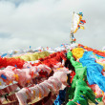 Tibetan prayer flags — Stock Photo