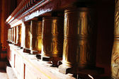 Tibetan prayer wheels — 图库照片