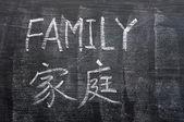 Family - word written on a blackboard — Stock Photo