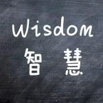 Wisdom - word written on a smudged blackboard — Stock Photo #11066714