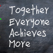 TEAM acronym for Together Everyone Achieves More — Stock Photo