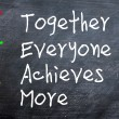 Stock Photo: TEAM acronym for Together Everyone Achieves More