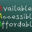 Stock Photo: Acronym of AAfor available, accessible and affordable
