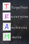 Chalk drawing of TEAM for Together Everyone Achieves More — Stock Photo