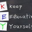 Acronym of Key for Keep Educating Yourself — Stock Photo #11176674