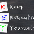 Stock Photo: Acronym of Key for Keep Educating Yourself