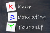 Acronym of Key for Keep Educating Yourself — Stock Photo