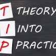 Stock Photo: TIP acronym for theory into practice on blackboard