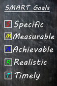 Chalk drawing of SMART Goals on a blackboard — Stock Photo