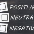 Feedback positive neutral negative on a chalkboard - Stock Photo
