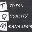Acronym of TQM for total quality management - Stock Photo