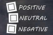 Feedback positive neutral negative on a chalkboard — Stock Photo