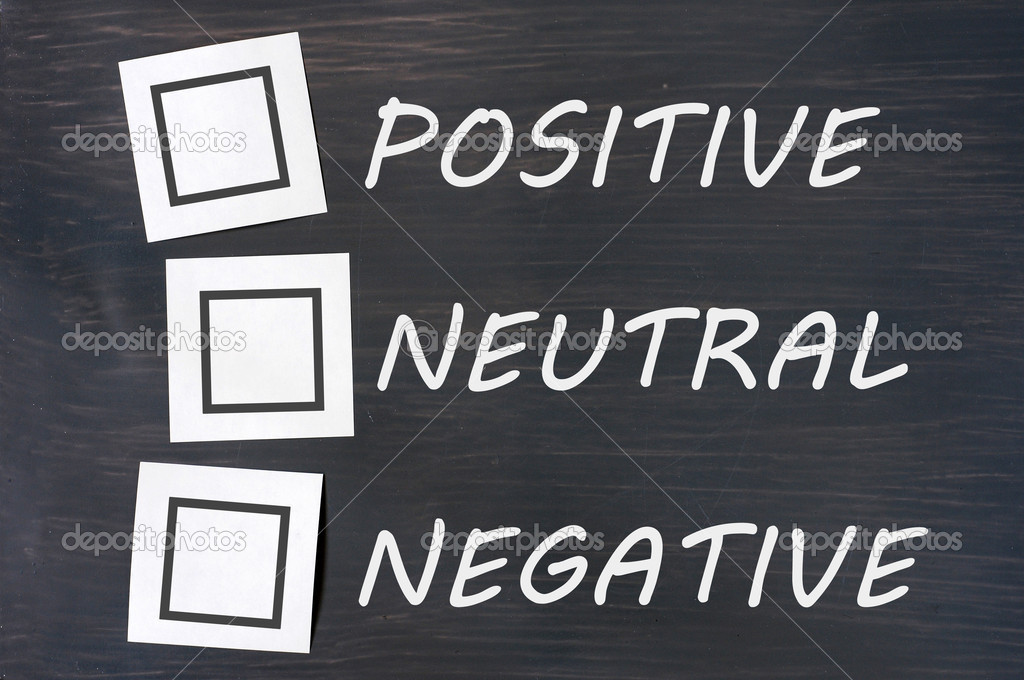 Feedback positive neutral negative on a chalkboard with blank checkboxes — Stock Photo #11313875