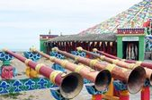 Trombones en una lamasería tibetano — Foto de Stock