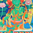 Ancient Tibetan wall painting art of buddha - Foto Stock