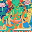 Ancient Tibetan wall painting art of buddha -  