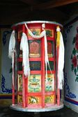 Huge Tibetan prayer wheel — ストック写真