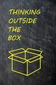 Thinking Outside the box — Stock Photo