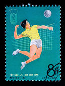 CHINA - CIRCA 1965: A Stamp printed in China shows image of a wo — Stock Photo