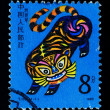CHINA - CIRCA 1986: A Stamp printed in China shows the Year of Tiger , circa 1986 — Stock Photo #11709854