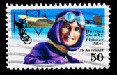 USA - CIRCA 1993 : stamp printed in USA showing Harriet Quimbly American pioneer pilot, circa 1993 — Stock Photo