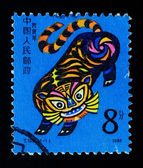 CHINA - CIRCA 1986: A Stamp printed in China shows the Year of Tiger , circa 1986 — Stock Photo