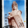CHINA - CIRCA 1993: A stamp printed in China shows the statue of Goddess Matsu, circa 1993 - Stock Photo