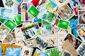 Collection of Chinese stamps — Stock Photo