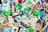 Coleção de selos chineses — Foto Stock