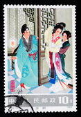 CHINA - CIRCA 1983: A Stamp printed in China shows a famous love story Romance of The West Chamber, circa 1983 — Stock Photo