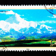 CHINA - CIRCA 2007: A Stamp printed in China shows Mount GONGGA in Sichuan China, circa 2007 — Foto de Stock