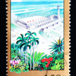CHINA - CIRCA 1998: A Stamp printed in China shows Construction of Hainan special zone , circa 1998 - Stock Photo