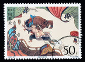 CHINA - CIRCA 1997: A Stamp printed in China shows The Story by the Water Margin , circa 1997 — Stock Photo