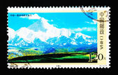 CHINA - CIRCA 2007: A Stamp printed in China shows Mount GONGGA in Sichuan China, circa 2007 — Stock Photo