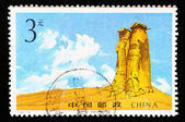 Stamp printed in China shows ancient Beacon tower , circa 1994 — Stock Photo